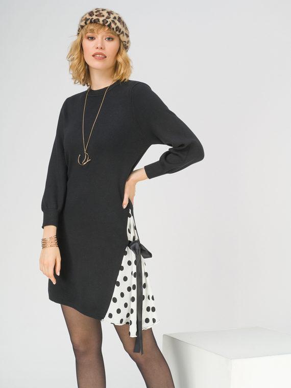 Платье 50% вискоза, 28% полиэстер, 22% нейлон, цвет черный, арт. 18800148  - цена 3190 руб.  - магазин TOTOGROUP