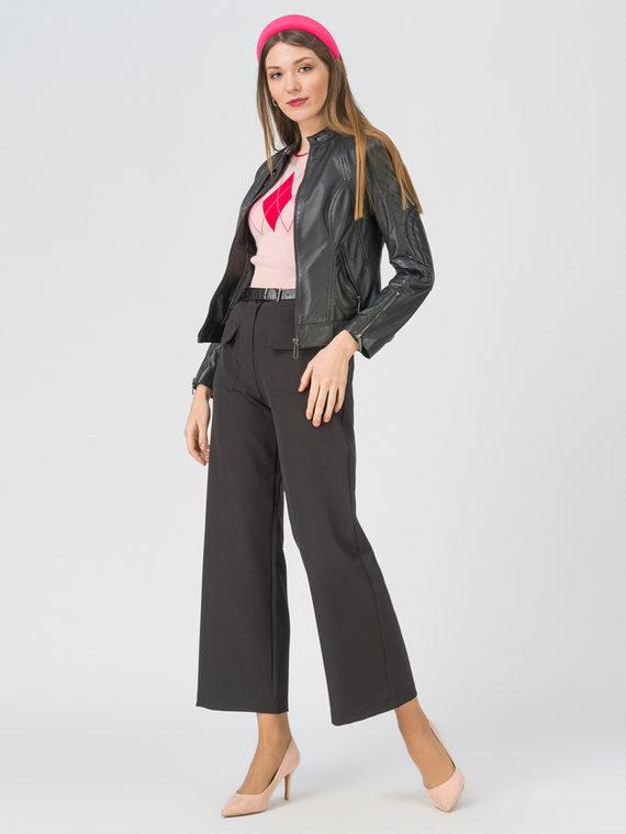 Кожаная куртка кожа, цвет черный, арт. 18802462  - цена 7490 руб.  - магазин TOTOGROUP