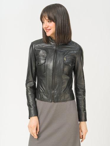 Кожаная куртка кожа, цвет черный, арт. 18802463  - цена 6990 руб.  - магазин TOTOGROUP