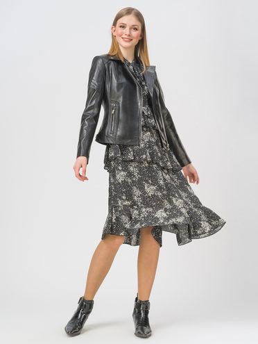 Кожаная куртка кожа , цвет черный, арт. 18802468  - цена 10590 руб.  - магазин TOTOGROUP