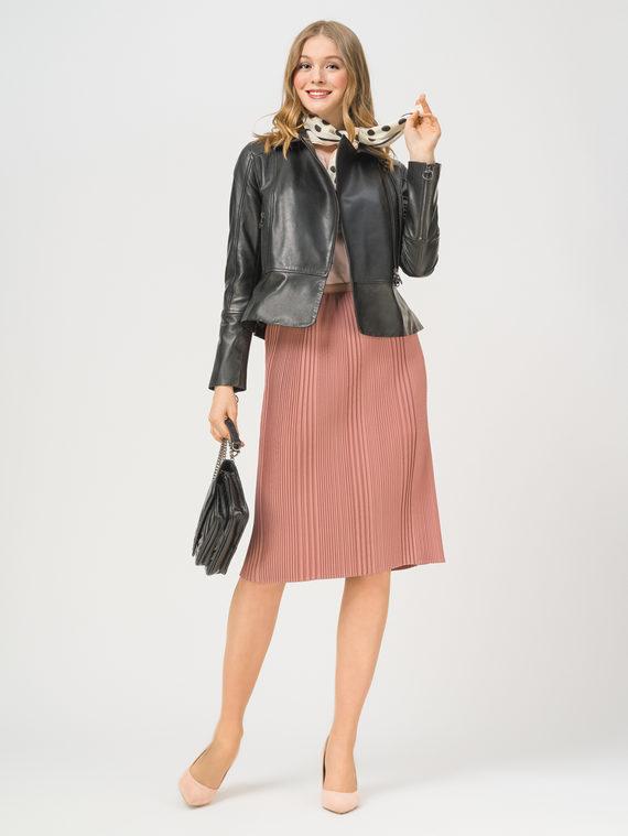 Кожаная куртка кожа, цвет черный, арт. 18802470  - цена 7990 руб.  - магазин TOTOGROUP