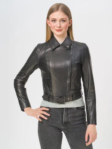 Кожаная куртка кожа, цвет черный, арт. 18802471  - цена 11990 руб.  - магазин TOTOGROUP