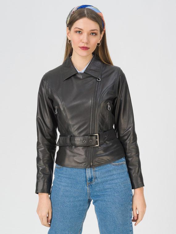 Кожаная куртка кожа, цвет черный, арт. 18802474  - цена 9990 руб.  - магазин TOTOGROUP