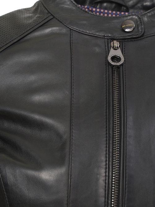 Кожаная куртка артикул 18802478/46 - фото 3
