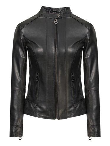 Кожаная куртка кожа, цвет черный, арт. 18802478  - цена 7990 руб.  - магазин TOTOGROUP