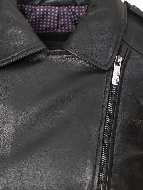 Кожаная куртка артикул 18802482/46 - фото 3