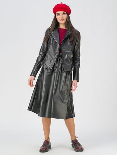 Кожаная куртка кожа, цвет черный, арт. 18802484  - цена 11290 руб.  - магазин TOTOGROUP