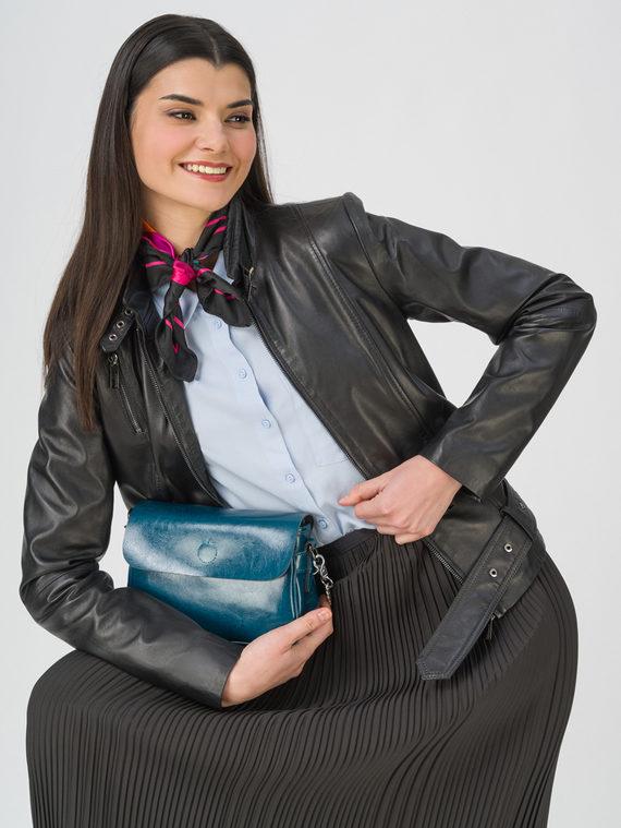 Кожаная куртка кожа, цвет черный, арт. 18802492  - цена 9990 руб.  - магазин TOTOGROUP