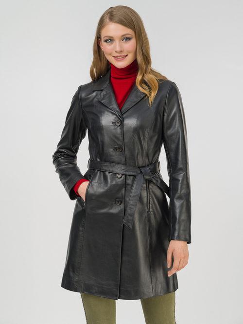 Кожаное пальто артикул 18802495/44 - фото 2