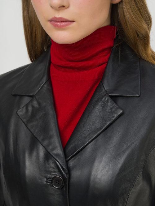 Кожаное пальто артикул 18802495/44 - фото 3