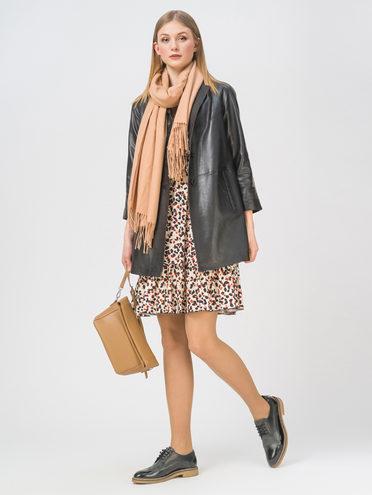 Кожаное пальто кожа, цвет черный, арт. 18802496  - цена 11290 руб.  - магазин TOTOGROUP