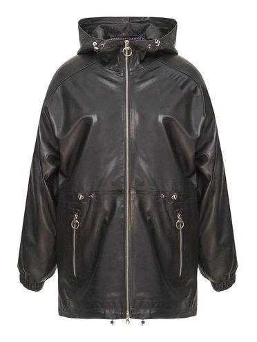 Кожаная куртка кожа, цвет черный, арт. 18802510  - цена 14990 руб.  - магазин TOTOGROUP