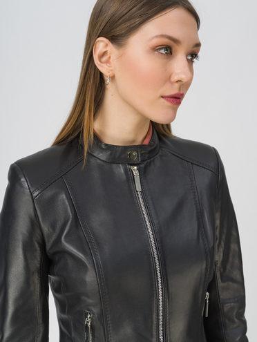 Кожаная куртка кожа, цвет черный, арт. 18809200  - цена 12690 руб.  - магазин TOTOGROUP