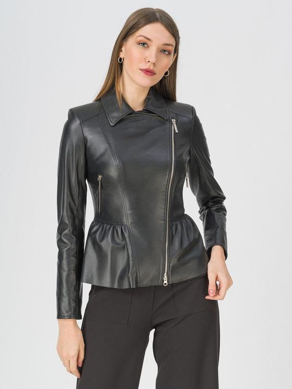 Кожаная куртка кожа, цвет черный, арт. 18809202  - цена 9990 руб.  - магазин TOTOGROUP