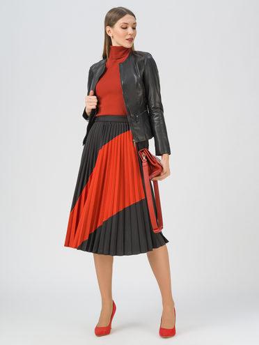 Кожаная куртка кожа, цвет черный, арт. 18809203  - цена 9990 руб.  - магазин TOTOGROUP