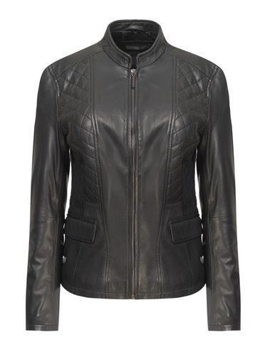 Кожаная куртка кожа, цвет черный, арт. 18809204  - цена 11990 руб.  - магазин TOTOGROUP