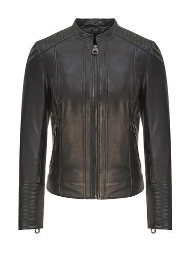 Кожаная куртка кожа, цвет черный, арт. 18809206  - цена 13390 руб.  - магазин TOTOGROUP