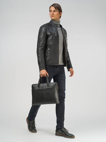 Кожаная куртка кожа, цвет черный, арт. 18809211  - цена 13390 руб.  - магазин TOTOGROUP
