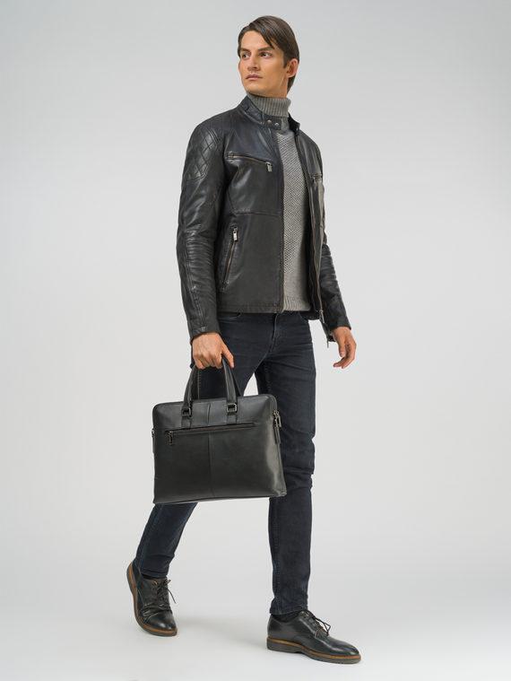 Кожаная куртка кожа, цвет черный, арт. 18809211  - цена 12690 руб.  - магазин TOTOGROUP