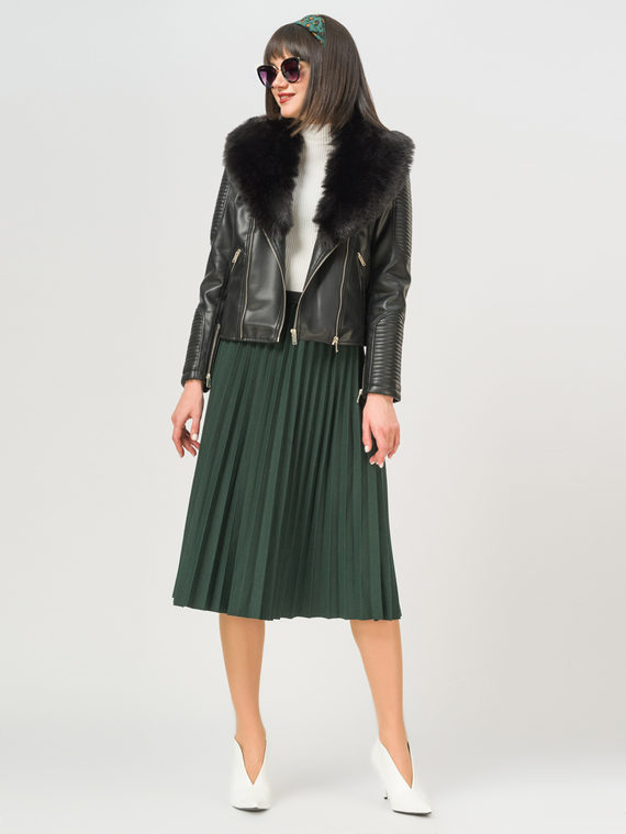 Кожаная куртка эко-кожа 100% П/А, цвет черный, арт. 18809291  - цена 3990 руб.  - магазин TOTOGROUP