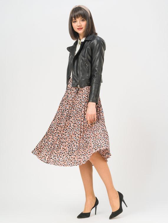 Кожаная куртка эко-кожа 100% П/А, цвет черный, арт. 18809292  - цена 3990 руб.  - магазин TOTOGROUP