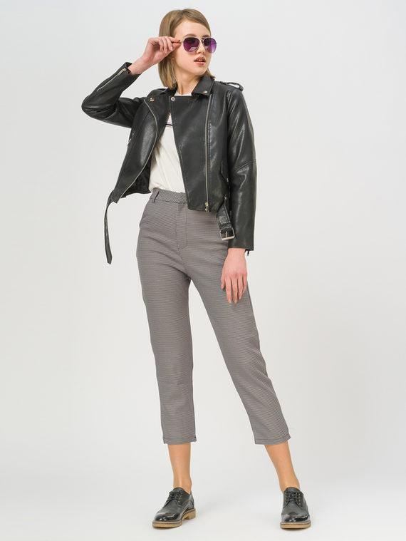 Кожаная куртка эко-кожа 100% П/А, цвет черный, арт. 18809294  - цена 2550 руб.  - магазин TOTOGROUP