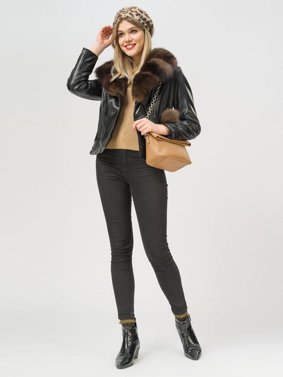 Кожаная куртка эко-кожа 100% П/А, цвет черный, арт. 18809298  - цена 12690 руб.  - магазин TOTOGROUP
