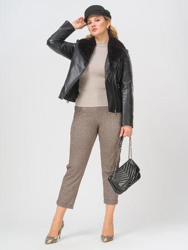 Кожаная куртка эко-кожа 100% П/А, цвет черный, арт. 18809299  - цена 8990 руб.  - магазин TOTOGROUP