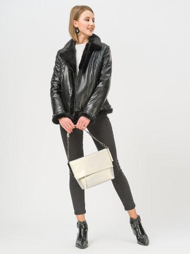 Кожаная куртка эко-кожа 100% П/А, цвет черный, арт. 18809300  - цена 11990 руб.  - магазин TOTOGROUP