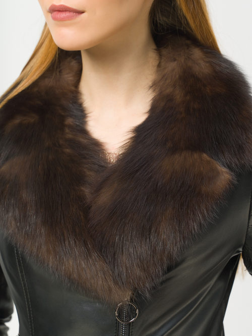 Кожаная куртка артикул 18809301/44 - фото 4