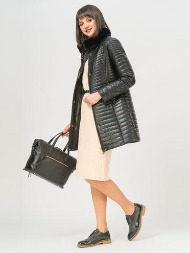 Кожаное пальто эко-кожа 100% П/А, цвет черный, арт. 18809306  - цена 6630 руб.  - магазин TOTOGROUP