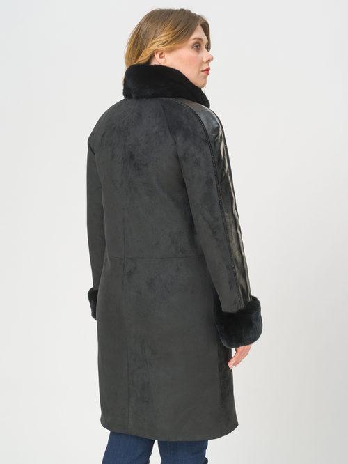 Кожаное пальто артикул 18809308/48 - фото 3