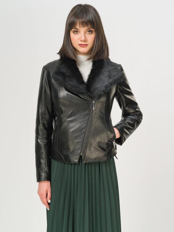 Кожаная куртка эко-кожа 100% П/А, цвет черный, арт. 18809310  - цена 9990 руб.  - магазин TOTOGROUP