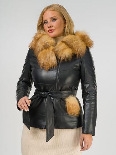 Кожаная куртка эко-кожа 100% П/А, цвет черный, арт. 18809312  - цена 12690 руб.  - магазин TOTOGROUP