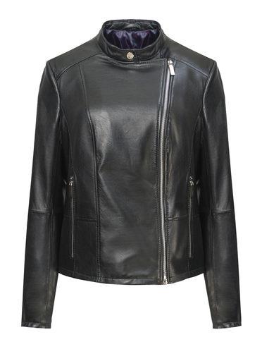 Кожаная куртка кожа, цвет черный, арт. 18809847  - цена 13390 руб.  - магазин TOTOGROUP