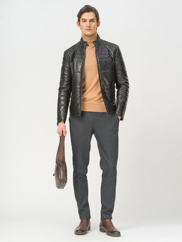 Кожаная куртка эко-кожа 100% П/А, цвет черный, арт. 18809867  - цена 5890 руб.  - магазин TOTOGROUP