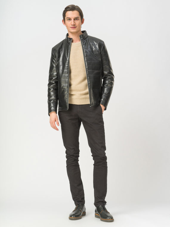 Кожаная куртка эко-кожа 100% П/А, цвет черный, арт. 18809873  - цена 3990 руб.  - магазин TOTOGROUP