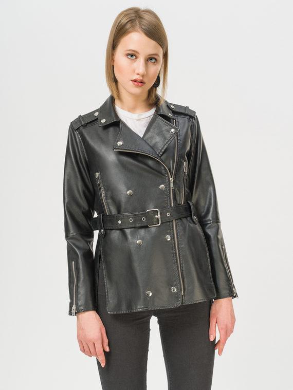 Кожаная куртка эко-кожа 100% П/А, цвет черный, арт. 18809888  - цена 4260 руб.  - магазин TOTOGROUP