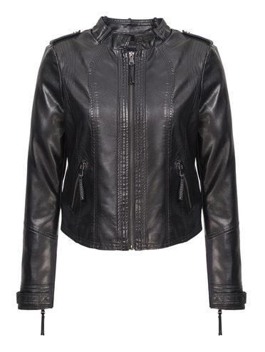 Кожаная куртка эко-кожа 100% П/А, цвет черный, арт. 18809893  - цена 3990 руб.  - магазин TOTOGROUP