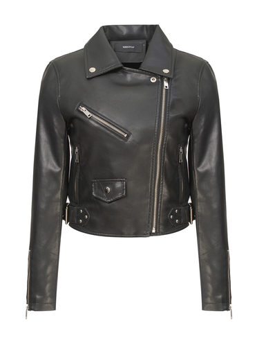 Кожаная куртка эко-кожа 100% П/А, цвет черный, арт. 18809895  - цена 2990 руб.  - магазин TOTOGROUP