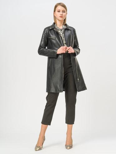 Кожаное пальто эко-кожа 100% П/А, цвет черный, арт. 18809896  - цена 3990 руб.  - магазин TOTOGROUP