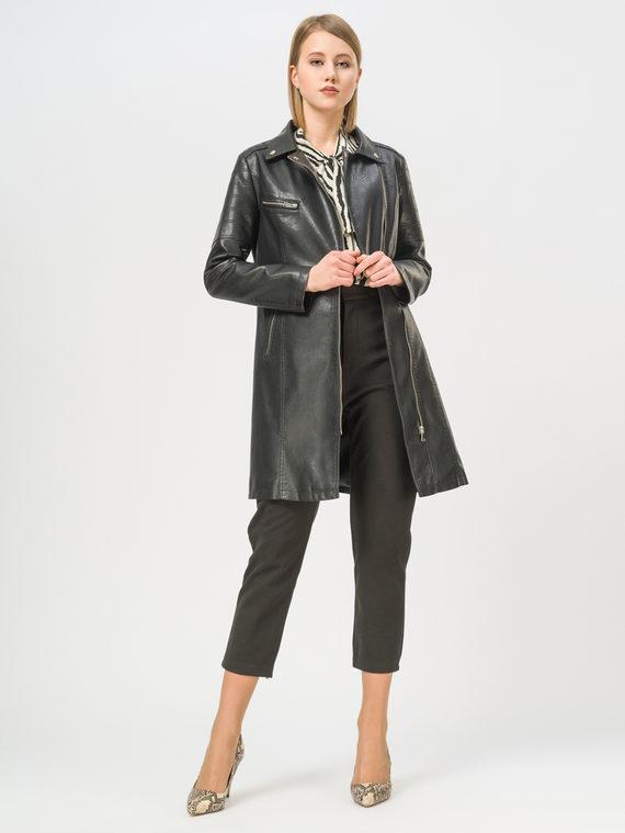 Кожаное пальто эко-кожа 100% П/А, цвет черный, арт. 18809896  - цена 3790 руб.  - магазин TOTOGROUP