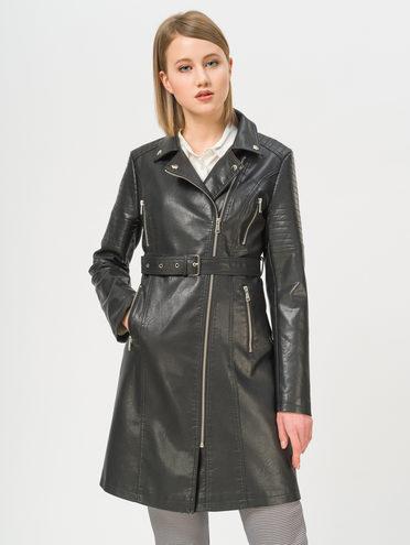 Кожаное пальто эко-кожа 100% П/А, цвет черный, арт. 18809897  - цена 3990 руб.  - магазин TOTOGROUP