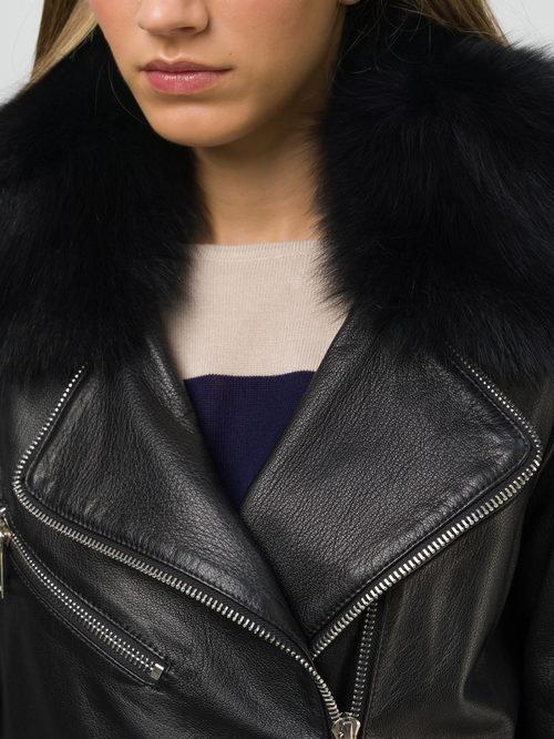Кожаная куртка артикул 18809907/44 - фото 3