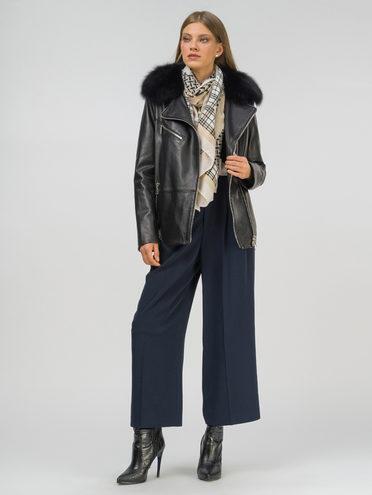 Кожаная куртка кожа , цвет черный, арт. 18809907  - цена 21290 руб.  - магазин TOTOGROUP