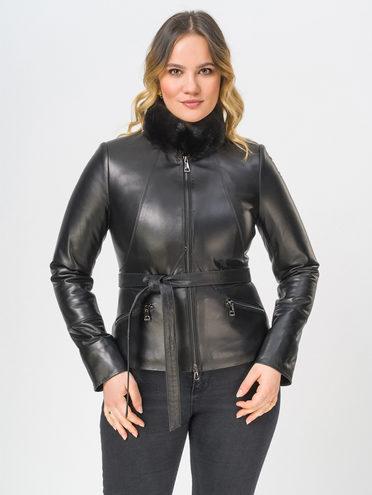 Кожаная куртка кожа, цвет черный, арт. 18809912  - цена 15990 руб.  - магазин TOTOGROUP