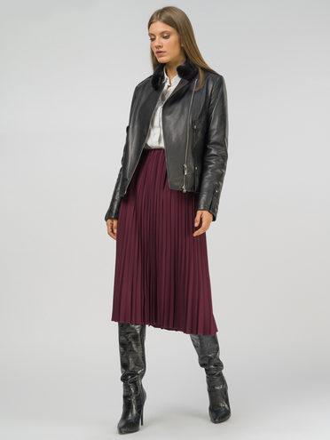 Кожаная куртка кожа , цвет черный, арт. 18809915  - цена 14990 руб.  - магазин TOTOGROUP