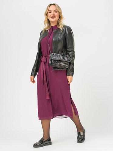 Кожаная куртка эко-кожа 100% П/А, цвет черный, арт. 18809916  - цена 4990 руб.  - магазин TOTOGROUP