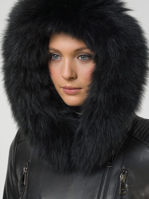 Кожаное пальто артикул 18809920/42 - фото 3