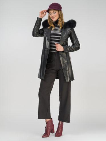 Кожаное пальто кожа , цвет черный, арт. 18809920  - цена 17990 руб.  - магазин TOTOGROUP